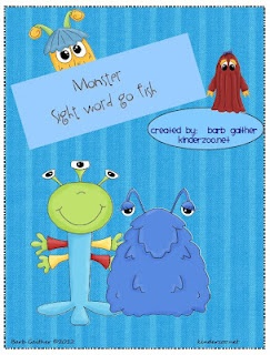 sight go themed     fish monster fish Kindergarten word sight Pinterest word go