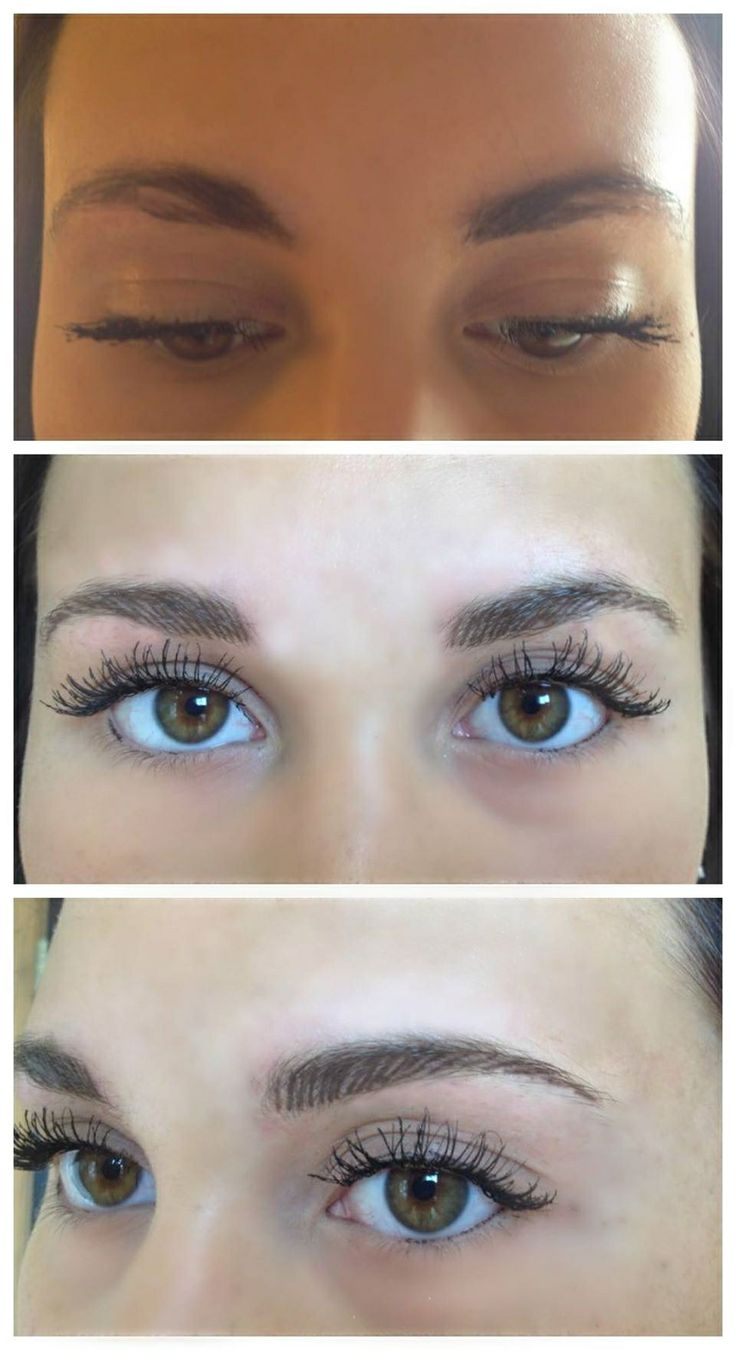 Feather touch brow tattoo at aura cosmetic tattoo studio for Cosmetic eyebrow tattoo