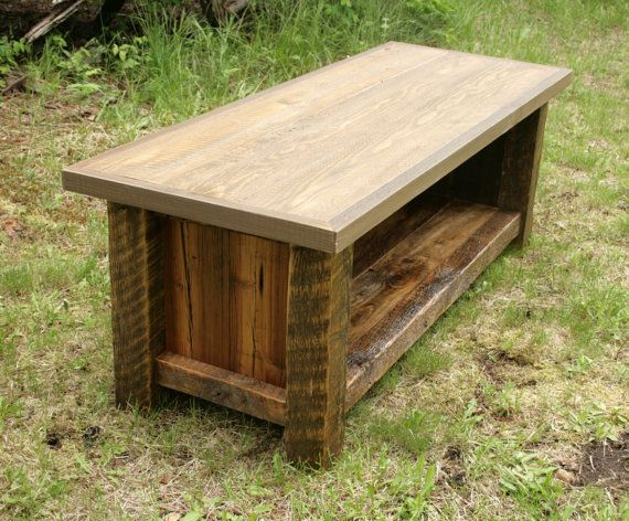 Rustic Reclaimed Barnwood Entry Bench
