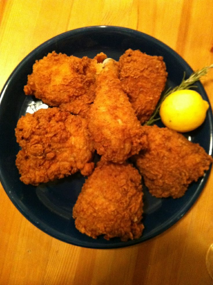 Rosemary-Brined, Buttermilk Fried Chicken Recipe — Dishmaps