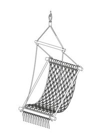 Hanging chair - Make a macrame hanging chair ...