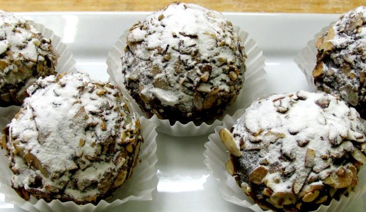 Chocolate Walnut Rum Balls~Makes 45 rum balls