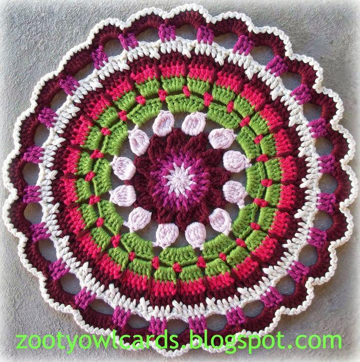Free Crochet Dahlia Flower Pattern : Dahlia Mandala: Pattern Crochet Pinterest