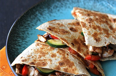 Asian Quesadilla with Chicken, Zucchini Hoisin Sauce Recipes