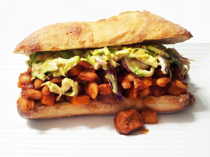 Seitan & White Bean Barbecue Sandwiches with Brussel Sprout Slaw ...