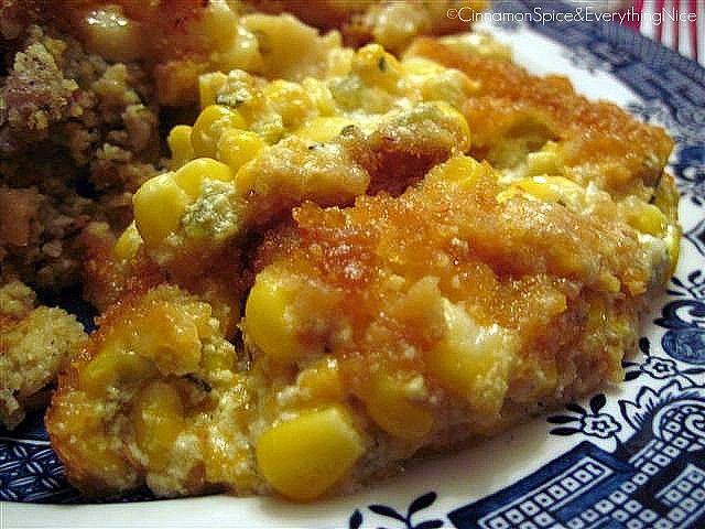 Corn, Green Chile, Egg And Cheese Casserole Recipe — Dishmaps