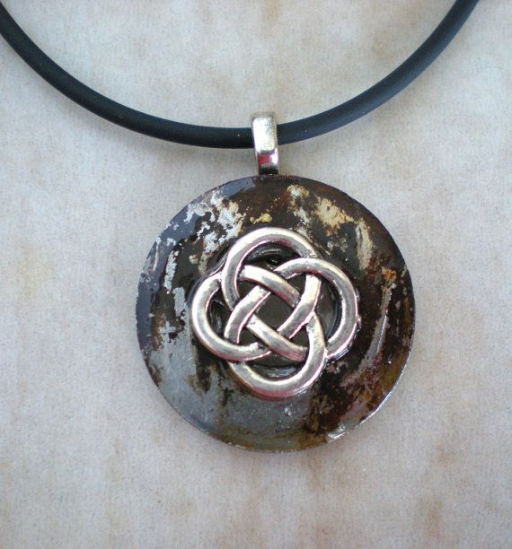 Celtic knot necklace rust men s jewelry men s necklace celtic