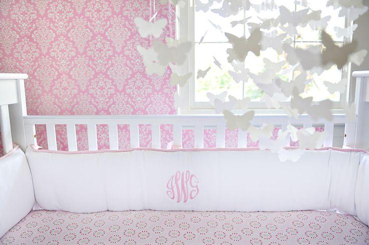 Girls Monogramed Bedding.