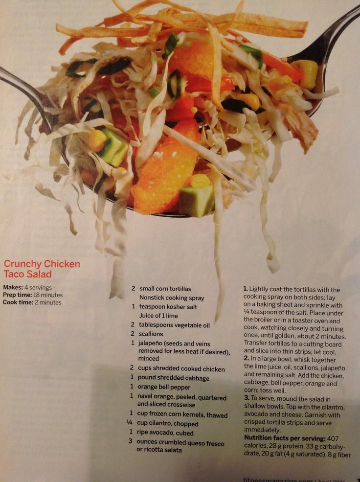 Crunchy chicken taco salad | Japan | Pinterest