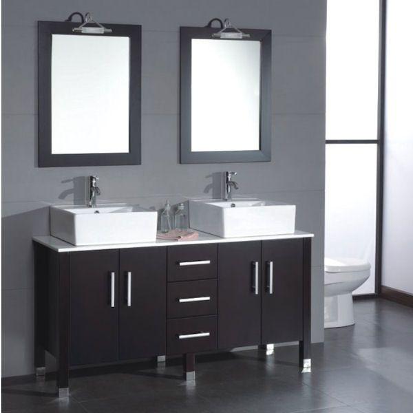 Cabinet For Vessel Sink : Vessel sink, espresso cabinet Ideas - Bathroom Pinterest