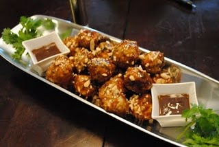 Chicken Meatballs with Peanut Sauce | FOOD: Asian Inspiration | Pinte ...