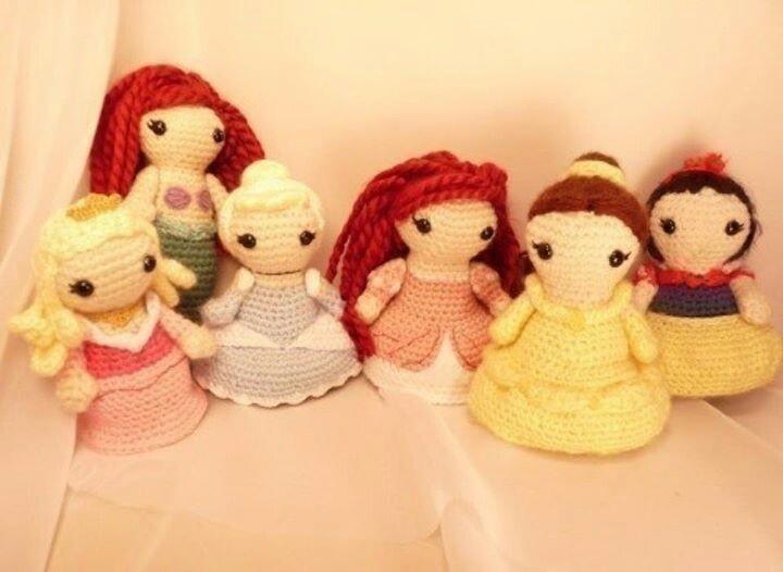 Patron Amigurumi Princesas Disney : Princesas Disney amigurumis Crochet Pinterest