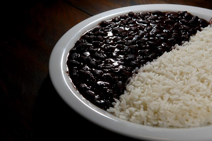"This is black beans and rice, Brazil it is also cooked as ""feijoada ..."