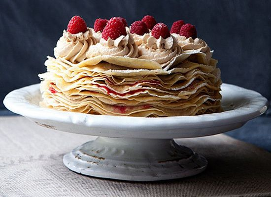 Biscoff and Raspberry Crepe Cakes