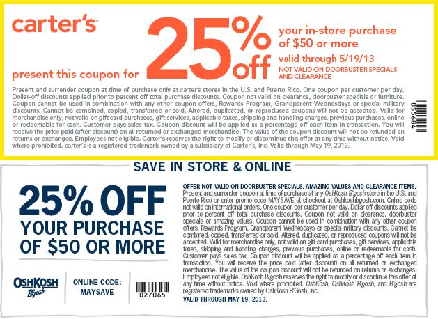 Carter's coupon codes february 2018