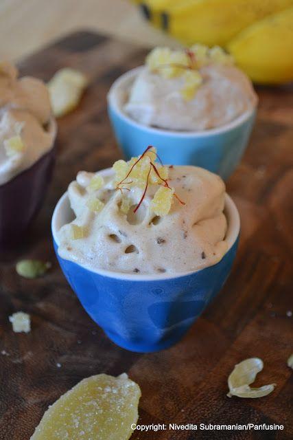Paal Pazham ice cream (bananas, lime juice, cardamom, saffron, and ...