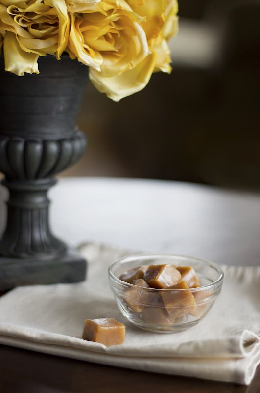 Homemade Honey Caramels- sweetened only with honey!