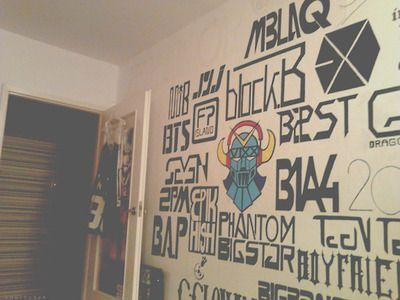 Kpop wall | ROOM IDEAS | Pinterest