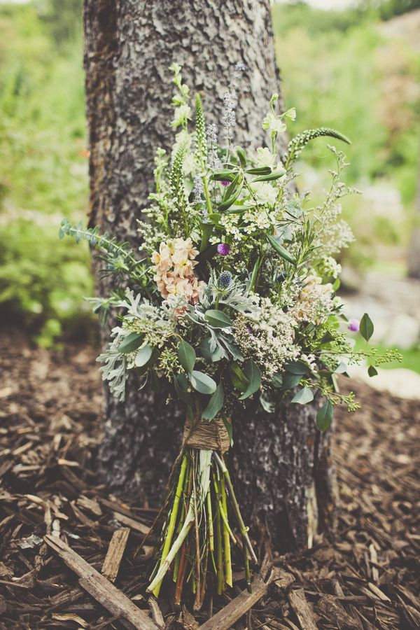Wildflower Bouquet | Utah Wedding via Engaged & Inspired