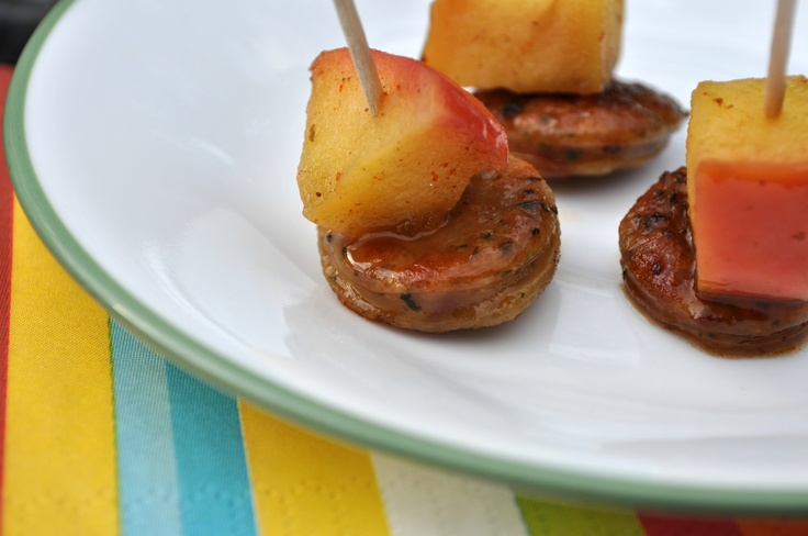 Sausage and apple bites food appetizers party food pinterest