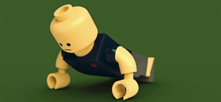 Lego push-ups! Push-ups are great for your pecs, but can be very ...