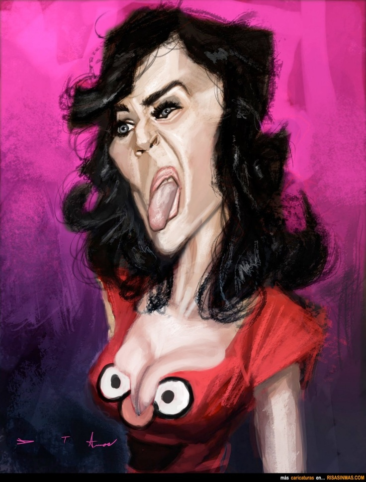 Caricatura de Katy Perry.