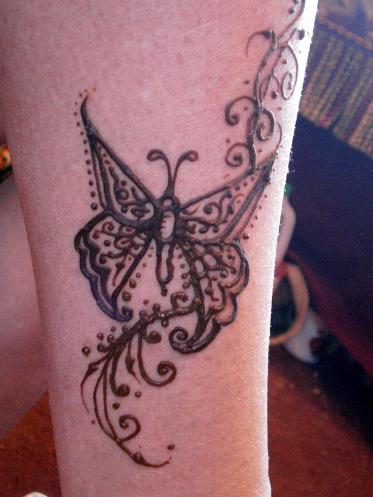 Mehndi Tattoo Butterfly : Henna butterfly makedes