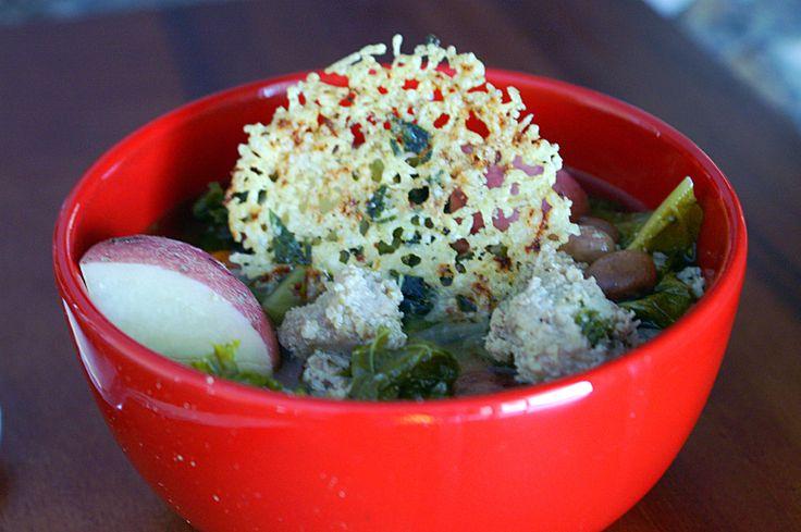 Sausage & Kale Crockpot Soup with a Lemon Basil Parmesan Snow Flake by ...
