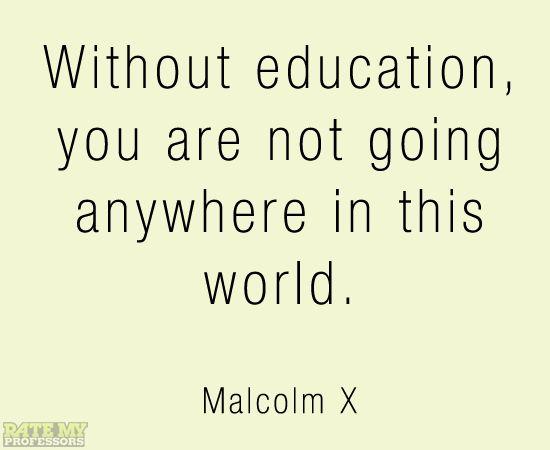 essay on malcolm x education