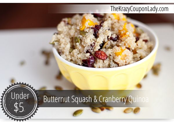 Red Quinoa With Butternut Squash, Cranberries And Pecans Recipe ...