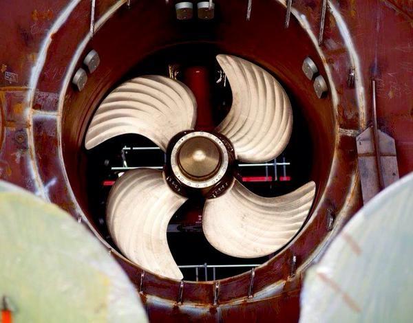 Quantum of the Seas' freshly installed propellers.