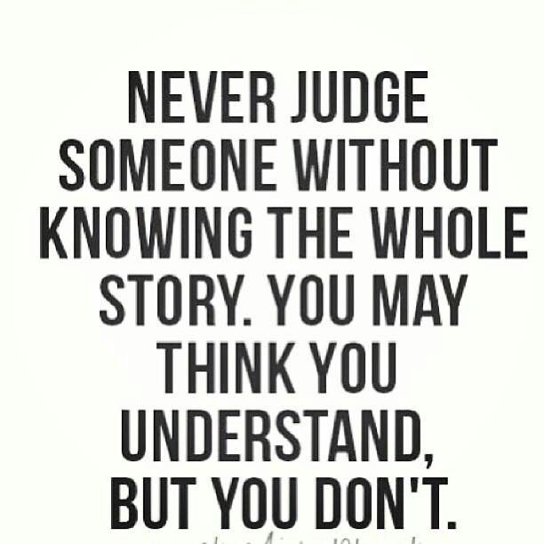 Judge me fuck you