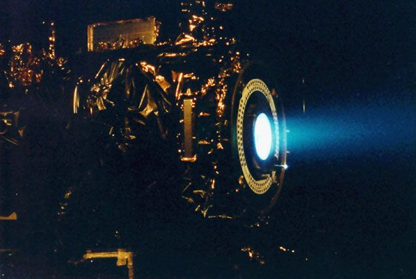 Did you know ion drives for spacecraft are real, not sci-fi?  Now I want one!
