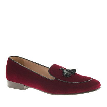 Collection Biella velvet tassel loafers