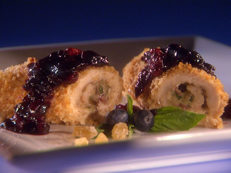 Chicken Cordon Bleu Roll-Ups with Ginger 'n' Spice Blueberry Chutney ...