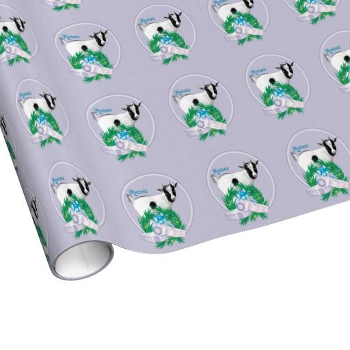 Lavender Myotonic Goat Christmas Wrapping Paper