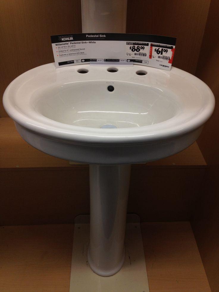 Home Depot pedestal sink Melrose St. Pinterest