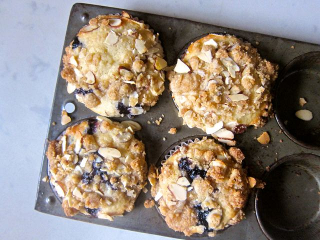 ALMOND BLUEBERRY MUFFINS | bake me | Pinterest