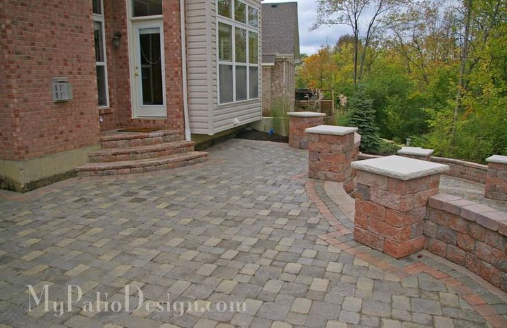 Stone for walkout basement patio garden landscape for Walkout basement backyard ideas