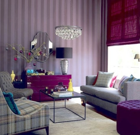 purple living rooms