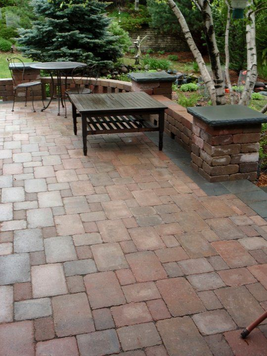 Pin by shelly eager on gardening other outdoorsy stuff for Brick wall patio designs