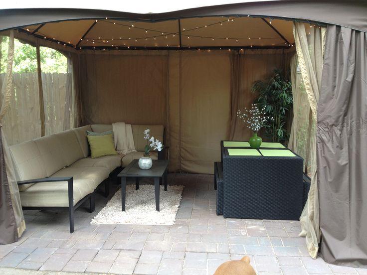 patio decor on a budget patio decor pinterest. Black Bedroom Furniture Sets. Home Design Ideas