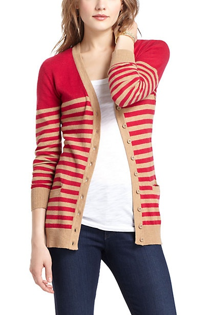 Striated Boyfriend Cardigan - Anthropologie.com