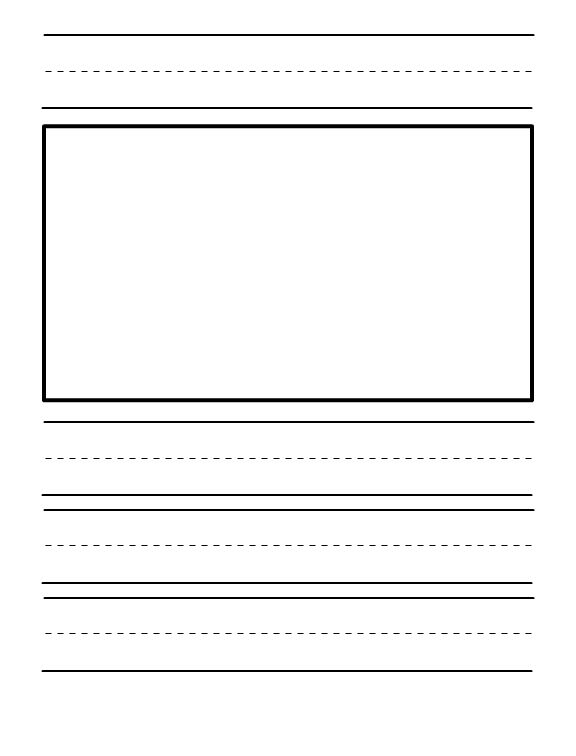 Writing paper printable kindergarten