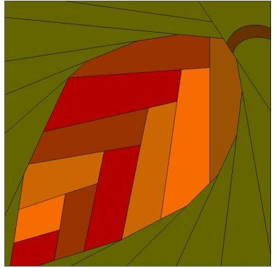 Leaf patchwork block pattern Quilting Pinterest