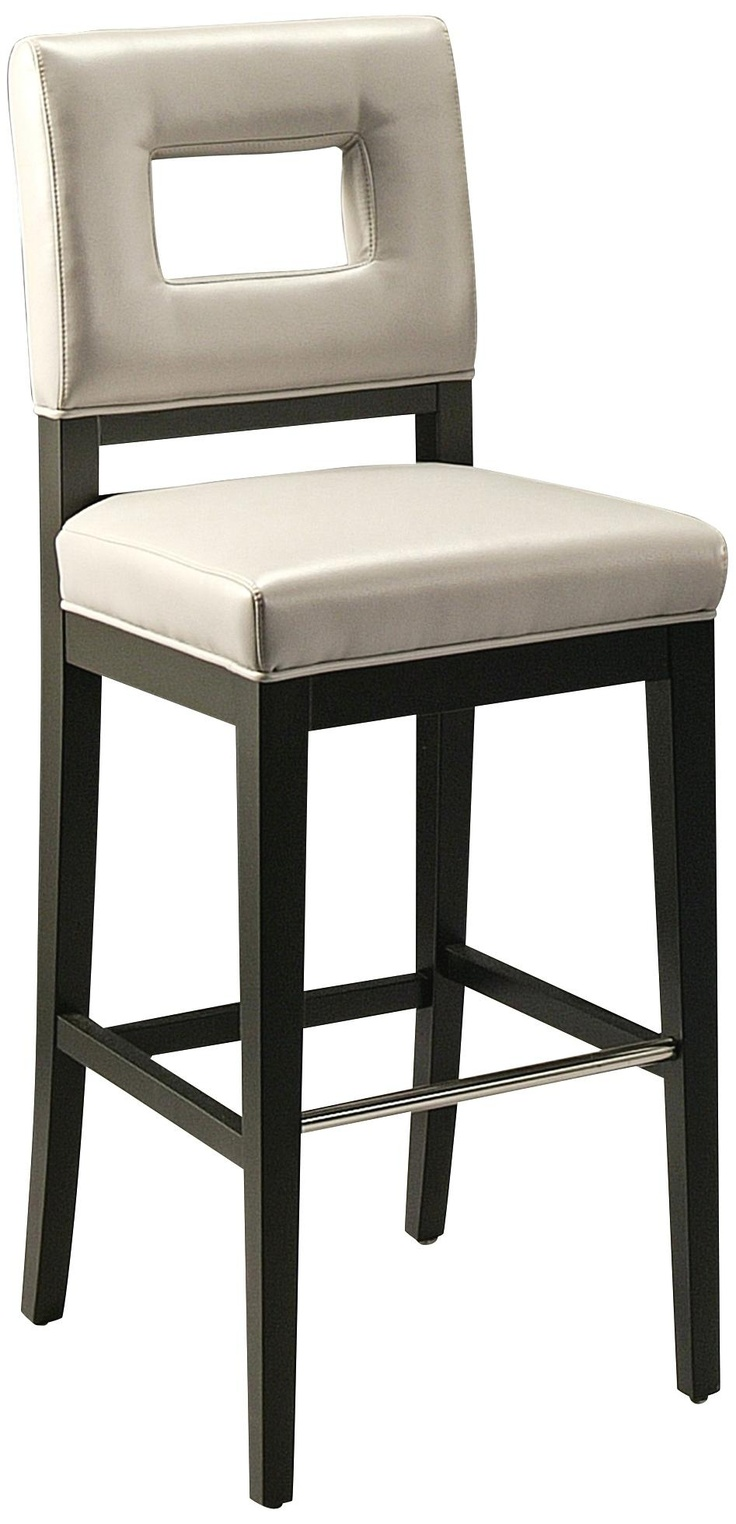 Hajime 26 Quot Leather Stainless Steel And Grey Counter Stool