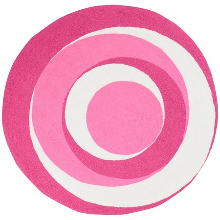 I pinned this Playground Swirl 4' Rug in Pink from the Eloise & Jake event at Joss & Main!