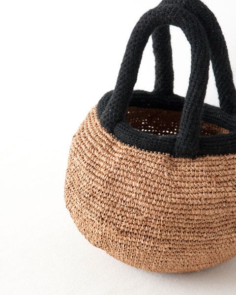 Crochet Bucket Bag : NORO CROCHET BUCKET bag sac crochet Pinterest