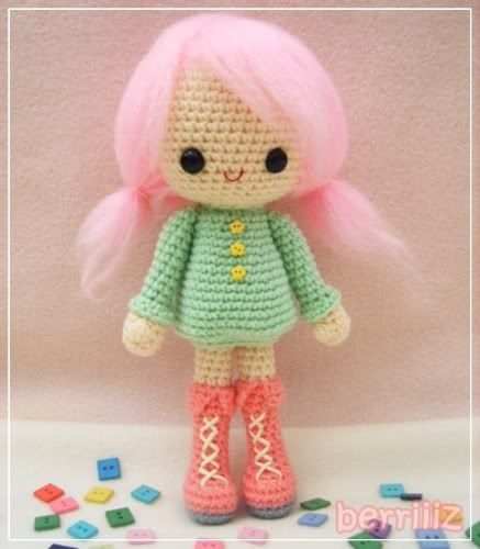 Crochet Doll Pattern Cute : cute doll. Crochet Amigurumi Dolls Pinterest