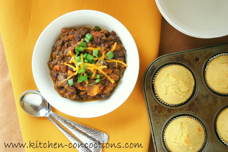 Winter Squash and Root Vegetable Black Bean Chili (Slow Cooker)
